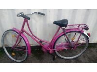 INSPIRE VINTAGE TOWNBIKE SINGLE SPEED 28 INCH WHEEL BRAKES PEDALLING BACKWARDS AVAILABLE FOR SALE