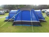 Hi gear 8 man Kalahari tent with foot print and porch