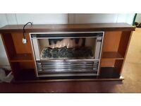 fire place wooden electric heater