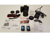 Almost NEW Canon 70D EOS 20.2 MP Digital SLR Camera and 18-200mm Lens DSLR + 32GB SD + Extra Battery