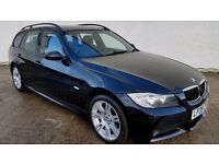 2008 BMW 320D M SPORT [177] TOURING - STOP/START - BLACK LEATHER - 1 YEARS MOT - (PART EX WELCOME)