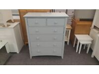 Julian Bowen Cameo Dove Grey 4+2 Drawer Chest Can Deliver