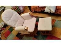 Nursing Rocking Chair with stool