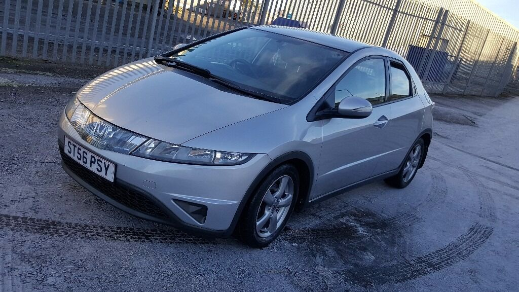 2007 HONDA CIVIC SE I-VTEC SILVER / 1 YEAR MOT / SERVICE HISTORY / LOW MILLAGE