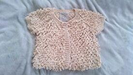 River Island Knitted Short Sleeved Summer Cardigan Shawl