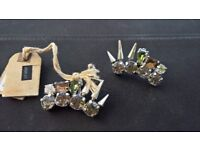 ear clips ALL SAINTS, sterling silver NEW!