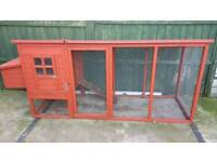 Chicken coop with run attached, rabbit, guinea pig hutch