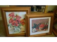 Two pine picture frames