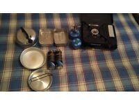 Camping stoves and mess tins