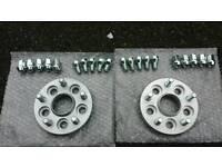 2X - 5x100 - 5x112 Hubcentric Adaptors - 20mm Wide - 57.1mm CB (VW Audi Skoda Seat Leon Golf Bora)