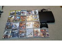 Ps3 slim 360gb with 21 game and disney infinity 3.0 star war and 3 extera characters