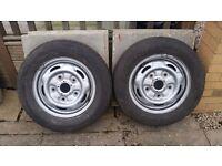 2 x Ford Transit Wheels & Tyres