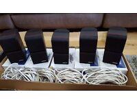 x5 Bose Redline Acoustimass Lifestyle Double Cubes with original boxes