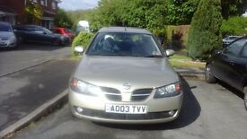 Nissan almeira 1.8 sve automatic 12 months motc3 owners from new 57k on the clock 03 plate