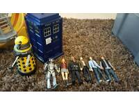 Doctor who flight control tardis with dalek and 6 characters