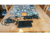 Sony PlayStation 2 Slim with Games, Memory Card and 2 Controllers Bundle