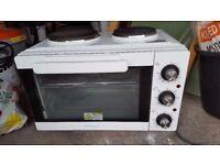Cookworks Mini Oven with Hob - White -Model KWS1528HQ-F5U