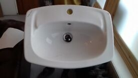Sink and tap fitting - used, in good condition COLLECTION ONLY