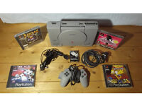 Sony PlayStation 1 with accessories and games