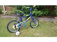 """Children kids bike bicycle 14"""" with stabilisers"""