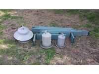 Chicken equipment feeders and omlet boards