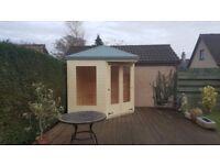 8ft x 8ft Corner Summer House