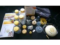 Medela breast pump and bottles