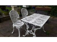 Lovely set of Metal table & 2 Chairs