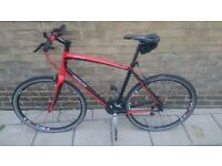 (£300)Specialized Sirrus A1 premiun Aluminun/carbon customized+Black helmet specialized