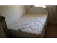Double Divan Bed with Headboard and Mattress - £100