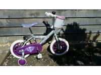 """Girls bike 11"""" with stabilisers"""