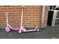 Girls scooters x 2