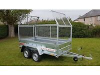 BRAND NEW 8.7x4.2 TWIN AXLE TRAILER WITH 80CM MESH AND TIPPING FEATURE