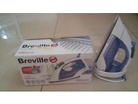 Breville Easy Glide Steam Iron, White and Lilac 2200W