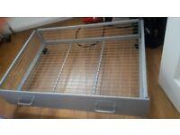 Lightweight metal underbed storage drawer