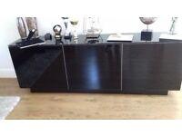 Italian Black gloss TV side board