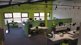 Desk space in modern newly developed building in Letchworth