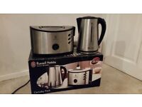 Stainless Steel Kettle & Toaster for Sale - Russell Hobbs