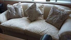 Large TETRAD Sofa-'Alicia' with cream & terracotta covers