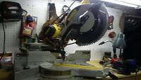 "12"" Sliding dewalt compound mitre saw for sale"