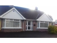 Beautiful 2 bed 2 large reception detached bungalow to let