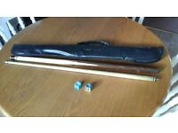 Snooker Cue annd Carry Bag