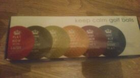 Keep calm golf balls. New in box