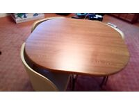 Hygena table with 4 chairs