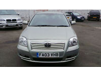 2003 03 TOYOTA AVENSIS 2.0 D-4D T3-X DIESEL (CHEAP PART EX TO CLEAR)