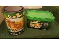 Cuprinol Anti Slip Decking Stain & Cuprinol Ducksback Shed and Fences