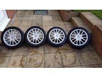 "VW Jetta Sport/Golf GT Mk5 TDI 17"" Alloy Wheels and Tyres"