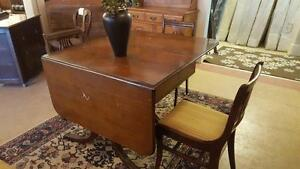 Duncan Phyfe Double Pedestal Table and Chairs