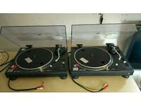 Technics SL1210 MK2 turntables pair