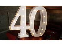 40 led light up sign - birthday anniversary etc
